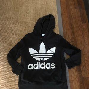 Women's adidas black hoodie sweatshirt sz med